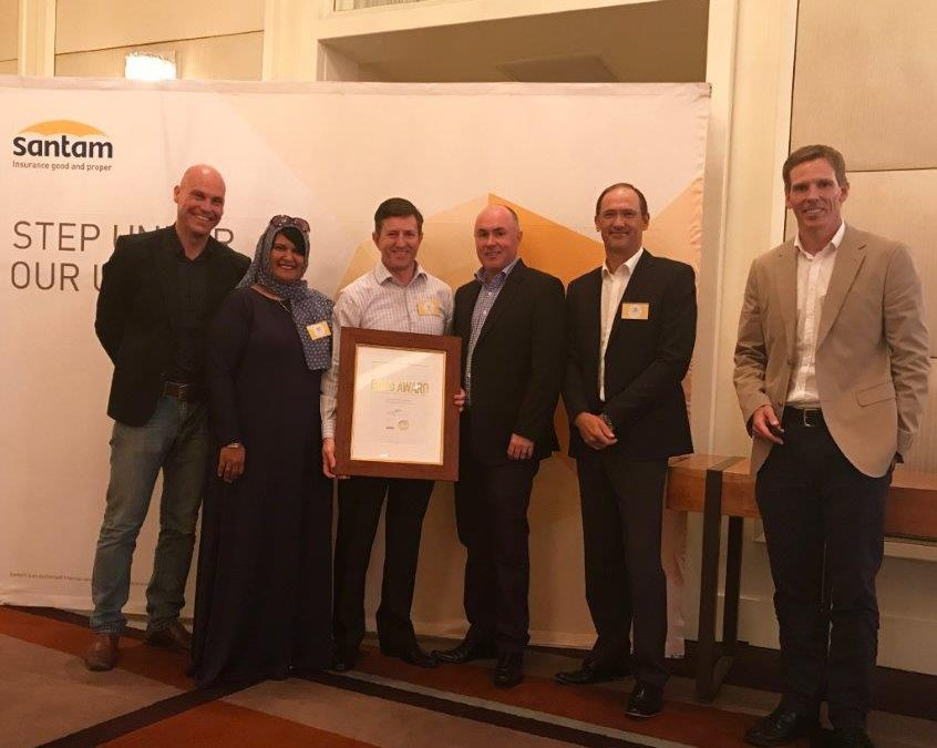Orchid Risk Services receive Gold Award from Santam Insurance Company as recognition of exceptional achievement.